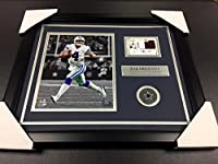 Dak Prescott Signed Photograph - Jersey Patch Framed 8x10 - Autographed NFL Photos