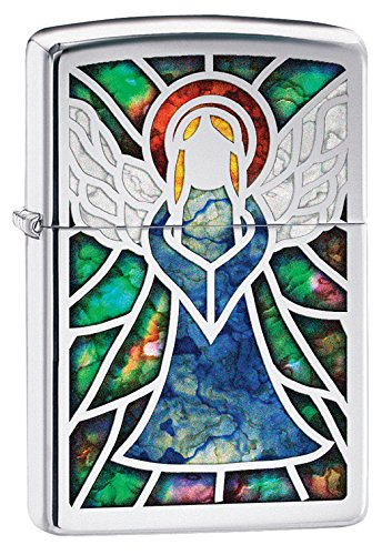 Zippo Angel Fusion Pocket Lighter, High Polish Chrome