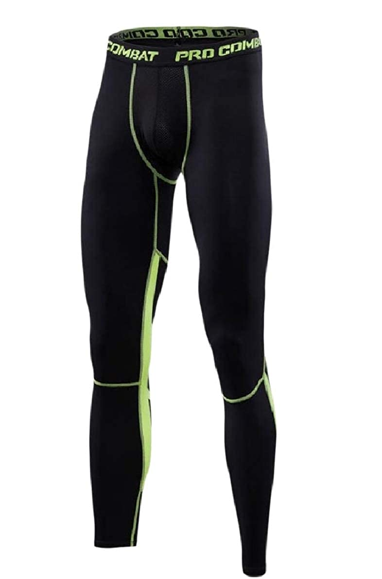 Zimaes-Men Stretch Quick Drying Sports Compression Baselayer Leggings Tight