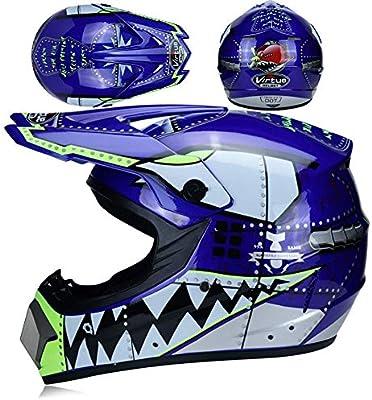 Amazon.es: D.O.T - Juego de 4 cascos de motocross con gafas y ...
