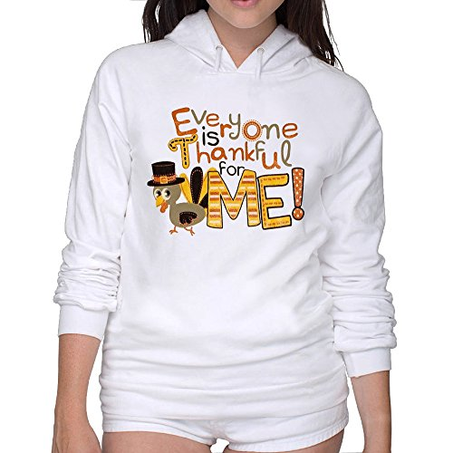 Turkey Thanksgiveing Day Women's Hoodies Sweatshirt M -