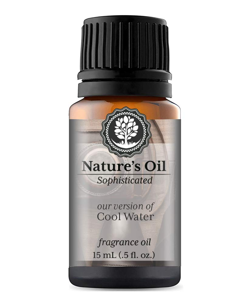 Cool Water Fragrance Oil (15ml) For Cologne, Beard Oil, Diffusers, Soap Making, Candles, Lotion, Home Scents, Linen Spray, Bath Bombs