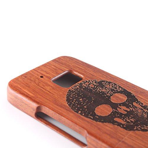 para HTC 10 Wood Case, Vandot 2 en 1 Funda Madera Real Rigida Cubierta Carcasa Protectiva Tapa Trasera Anti-Shock Caja del teléfono móvil para HTC 10 / HTC One M10, Diseño del árbol de coco Madera 04