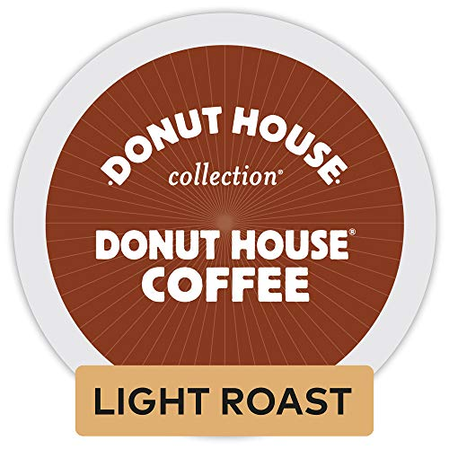Donut House Collection, Donut House Coffee, Single-Serve Keurig K-Cup Pods, Medium Roast, 72 Count (3 Boxes of 24 Pods)
