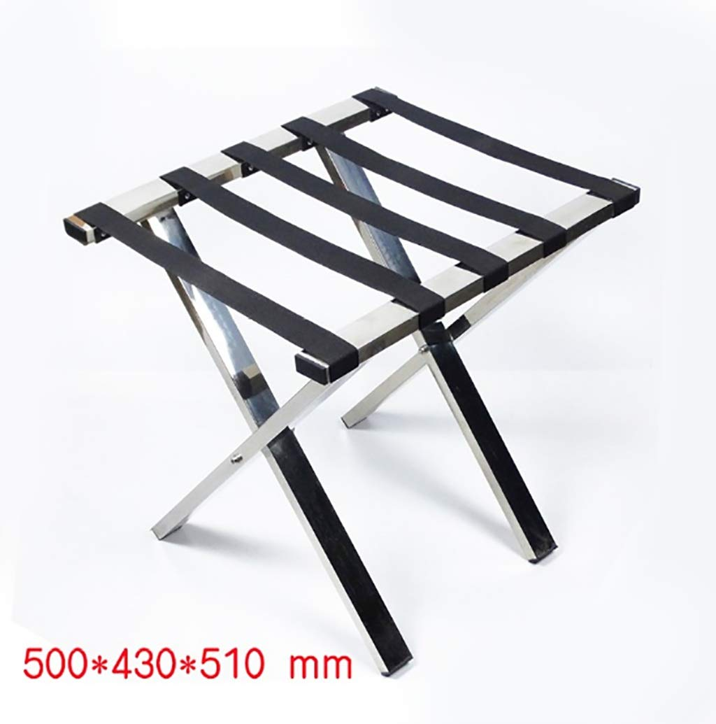 XLJ-YJ Hotel Luggage Rack Stainless Steel Room Luggage Rack High-end Display Rack Household Folding Storage Rack