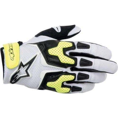 Alpinestars Mens SMX-3 Air Motorcycle Gloves Black/White/Yellow XXL 2XL