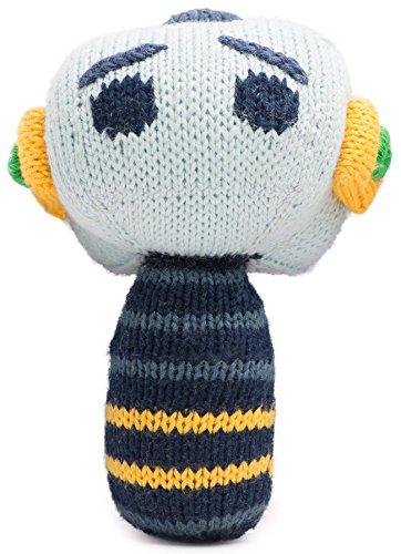 Rattle Mini - Finn + Emma Mini Rattle Organic Cotton Knit Rattle for Baby Boy or Girl – Hugo