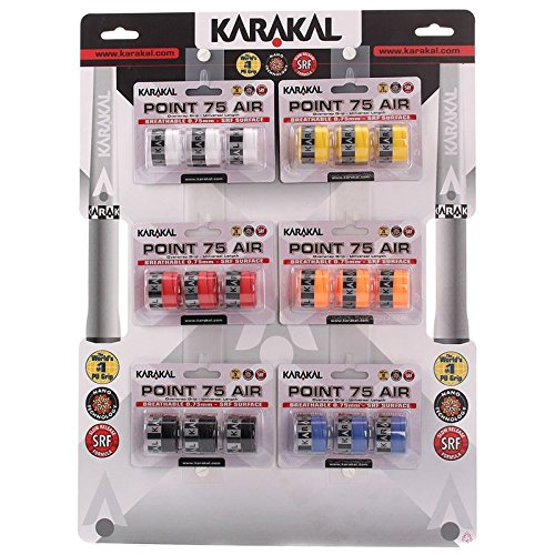 Karakal Point 75 Overgrip Assorted (3 Pack)