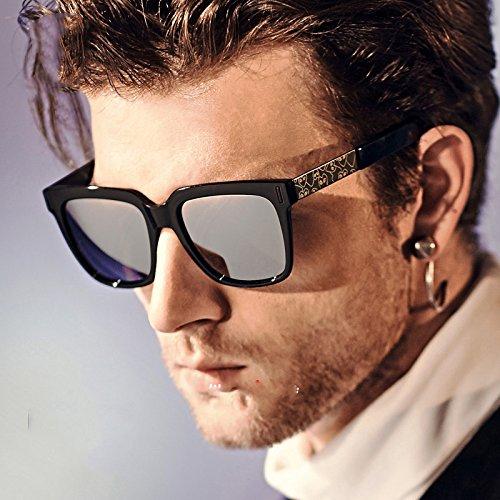 Personalidad la de la Sol Las de Gafas de Mm A Los Gafas de C Que Sol de Hombres Cuadrados Cara Marea conducen de WFL Las wqvzpn