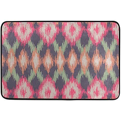 Starowas Ethnic Pattern Ikat Doormat,Abstract Door mat Area Rug for Bedroom Front Door Kitchen Indoors Home Decors 23.6x15.7 inches