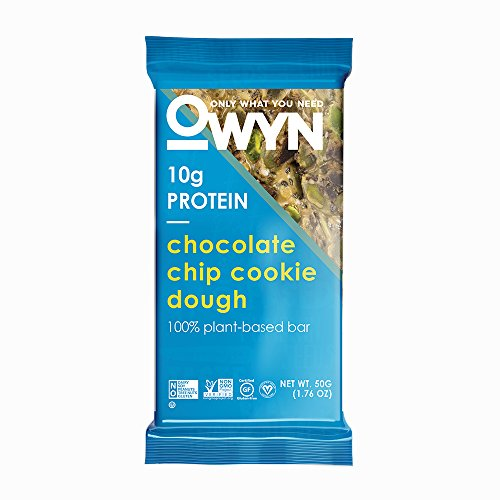 (OWYN Only What You Need 100% Plant-Based Bars, Chocolate Chip Cookie Dough, Gluten-Free, Dairy-Free, Soy-Free, Allergy Friendly, Vegan 12 Pack)