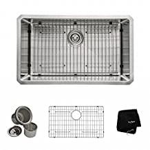 Kraus KHU100-30 30 inch Undermount Single Bowl 16 gauge Stainless Steel Kitchen Sink
