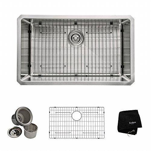 30 in. Undermount Single Bowl Stainless Steel Kitchen Sink
