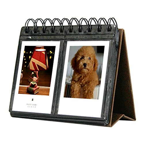 Amazing Works 68 Pockets Desk Calendar Album for Fuji Instant Mini 70 7s 8 25 50s 90, Polaroid Z2300, Polaroid PIC-300P Film - Frame Wide Polaroid
