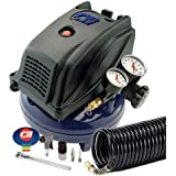 Campbell Hausfeld FP260000RB 1 Gallon Pancake Air Compressor with Inflation Kit