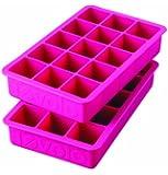 Tovolo Perfect Cube Ice Tray, Fuchsia - Set of 2