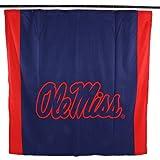 NCAA Mississippi Old Miss Rebels Ole Miss Rebelsbig Logo Shower Curtain, Blue, 72'' x 70''