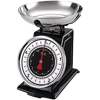 Starfrit 080211-003-0000 Retro Mechanical Kitchen Scale, Silver/Black