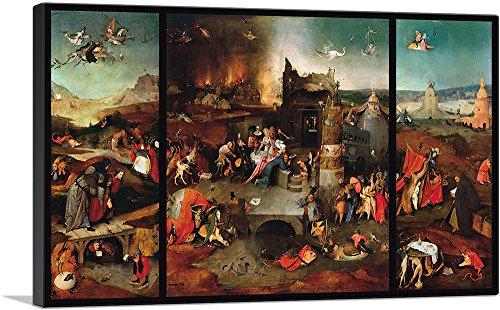 ARTCANVAS The Temptation of St. Anthony 1516 Canvas Art Print by Hieronymus Bosch – 26 x 18 0.75 Deep