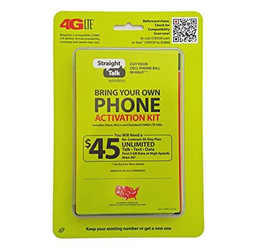 Straight Talk Verizon 4G LTE Compatible Mini/Micro SIM Card. Fits most Verizon LTE including Galaxy S3,S4,S5, Note 2,3,4 (Galaxy Cell Phones Straight Talk)