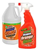 Awesome Oxygen Orange 32 Oz All Purpose Degreaser & Spot Remover with Awesome Orange 64 Oz. Refill