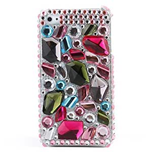 Gorgeous Protective PVC Case with Crystals Cover for iPhone 4, 4S , Blue