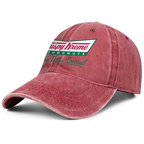 Mens Womens Krispy-Kreme- Adjustable Classic Summer Hats Trucker Washed Dad Hat Cap