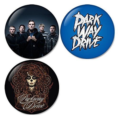 Parkway Drive #3 Pinback Buttons Badges/Pin 1.25 Inch (32mm) Set of 3 New