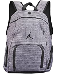 Boys Grey 23 Print Backpack (Grey & Black) Or Black
