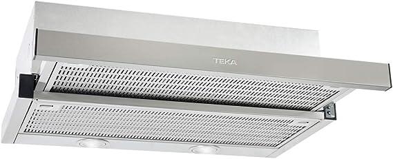 Teka Cocina Extensible | Modelo: CNL 6400 | Campana con 2 Motores | 3 velocidades de extracción | Ancho de 60 cm | Color INOX, Acero Inoxidable: Amazon.es: Grandes electrodomésticos