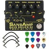 Tech 21 SansAmp Bass Driver DI V2 Bundle with 3