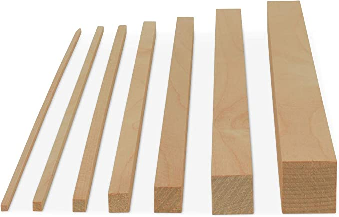 Pack of 25Hardwood Dowel Sticks by Woodpeckers Wooden Dowel Rods 3//8 x 6 Inch