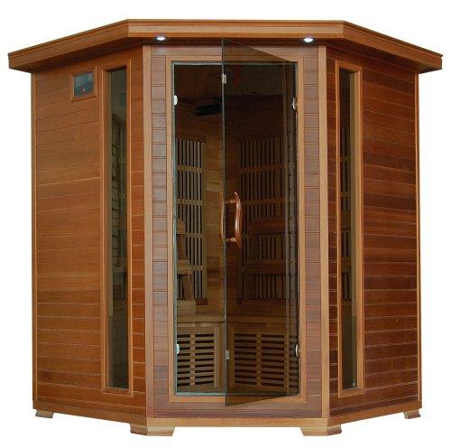 Whistler - 4 Person Corner Cedar Heatwave™ Sauna - Free Shipping!