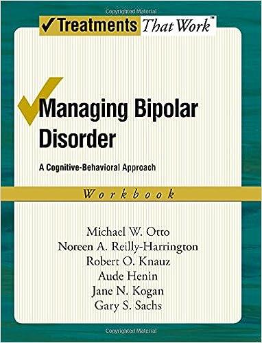 Amazon.com: Managing Bipolar Disorder: A Cognitive Behavior ...