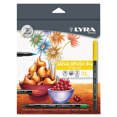 Dual Tip Marker, Assorted, 12 per Pack, Sold as 1 Set, 12 Each per - Dual Marker Tip Lyra