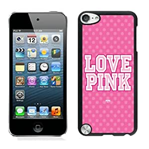 Personalized Custom Picture iPod Touch 5,LOVE PINK Black iPod Touch 5 Custom Picture Phone Case