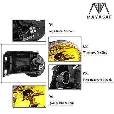 MAYASAF DODGE Fog Light Amber Lens Replacement Fog Lamp Assembly Fit 1994-2001 Dodge RAM 1500, 1994-2002 Dodge RAM 2500, 1994-2002 Dodge RAM 3500: Automotive