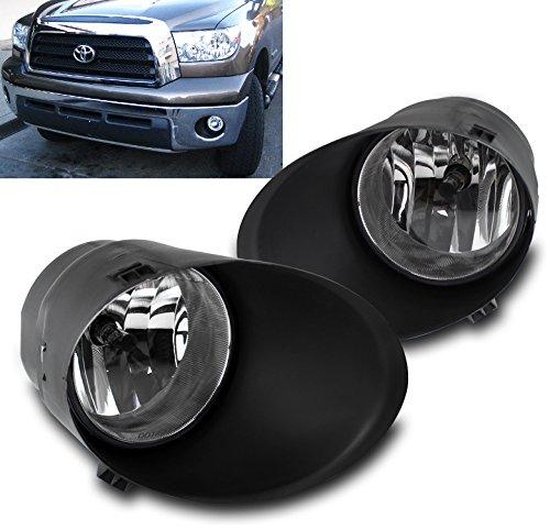 ZMAUTOPARTS Toyota Tundra/ SEquoia Bumper Driving Fog Light Lamp Chrome (Fog Lights Driving Bumper Lamps)