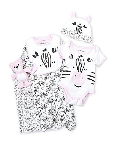 Zebra Baby Girls 9 Piece Layette Gift Set in Tuelle Bag (3-6 Months) (Cutie Pie Girl)
