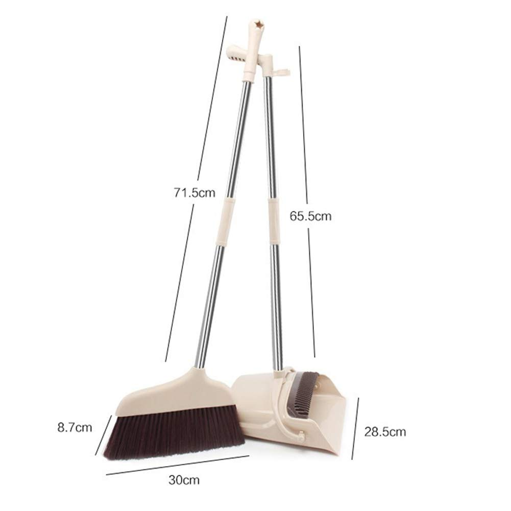 YJIUJIU Broom and Dustpan/Dust Pan and Broom Combo Set with Long Handle for Upright Sweep Lobby Office Pet Hair Sweeping Kitchen House by YJIUJIU (Image #7)