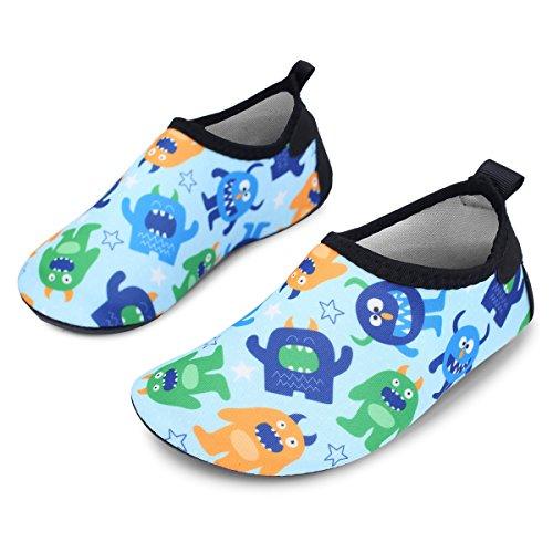 JIASUQI for Girls Aqua Socks Dinosaur Boys Water Beach and Shoes Multi Athletic Swimming Summer Kids Pool BqWBHrv1wa