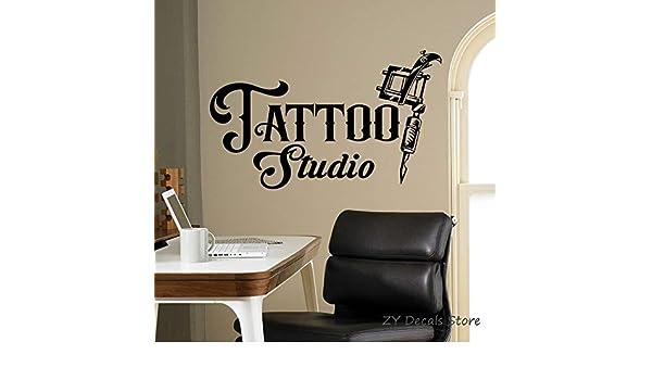 jiushivr Tattoo Studio Sign Wall Decal Business Logo Poster Vinyl ...