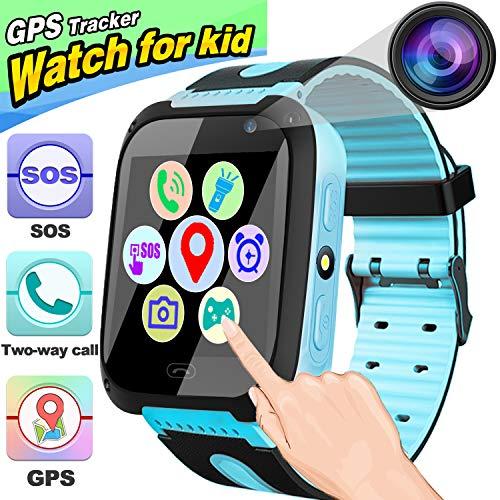 Duperym Kids Smart Watch Phone - GPS Tracker for Kids Girls Boys with 1.44