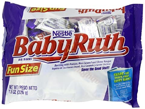 Nestle Baby Ruth Fun Size Bag, 11.5 Ounce (Pack of 12) (Bite Size Baby Ruth)