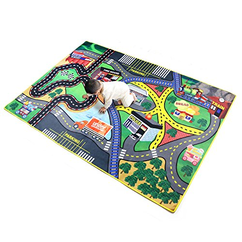 Toy Carpet 39x57 Carpet for Toy Cars; Suitable for Home Children's Room Games Room and Classroom Safe and Interesting Toy Carpet for Boys and Girls by The bananmelon
