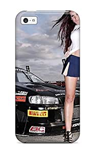 For Iphone 5c Premium Tpu Case Cover Girls And Cars Protective Case