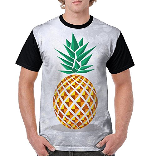 Aoaoozu8 Men Pineapple Funny Tee Black Size - Men Lebanon Naked