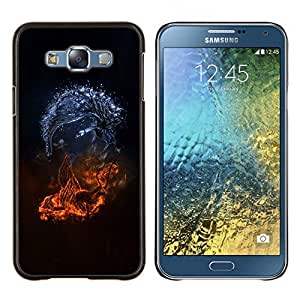 /Skull Market/ - Abstract Monsters For Samsung Galaxy E7 E7000 - Mano cubierta de la caja pintada de encargo de lujo -