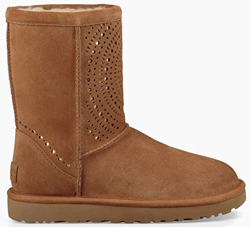Picture of UGG Womens Classic Short Sunshine Perf Boot Chestnut Size 8