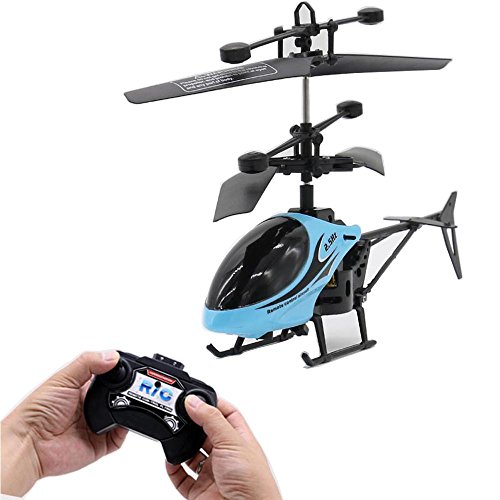Mini RC Helicopter, Infrared Remote Control Helicopter Drone Toy for Kids 2 CH LED Light with Gyro Hovering